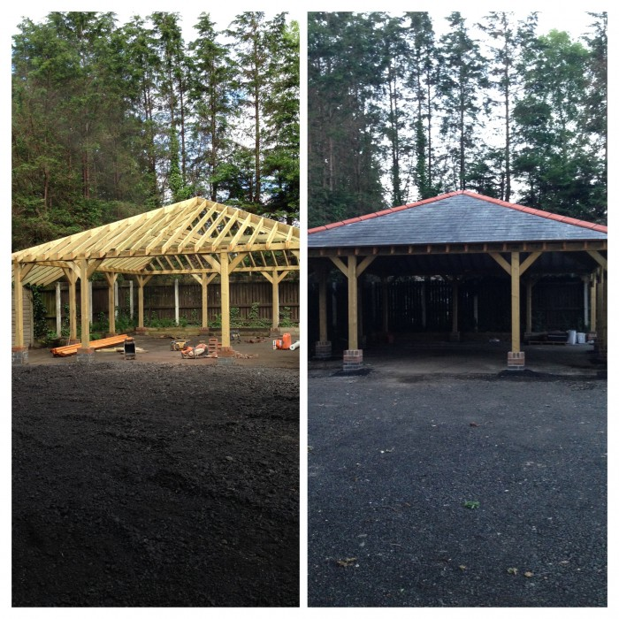 We Finally Finished The Rv Carport: Timber Frame Carport Construction